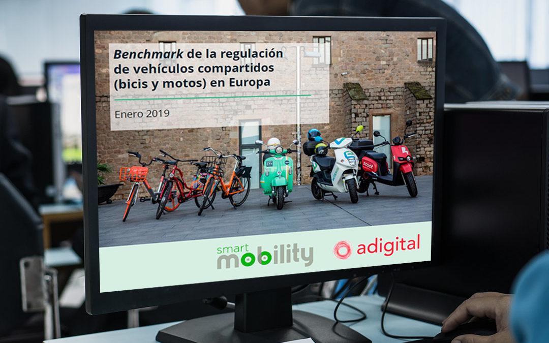 Benchmark de la regulación de vehículos compartidos (bicis y motos) en Europa